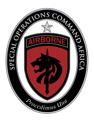 United States Africa Command - Special Operations Command Africa: United States Army Element Shoulder Sleeve Insignia and Combat Service Identification Badge