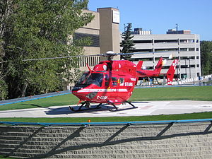 MBB/Kawasaki BK 117 - STARS Air Ambulance at Foothills Medical Centre.