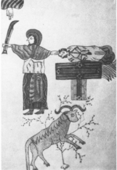 Sacrifice of Isaac in the Leon bible