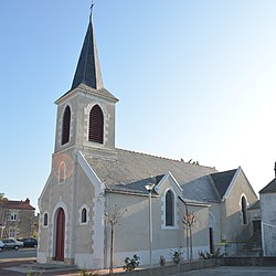 The church in Saint-Léger-les-Vignes