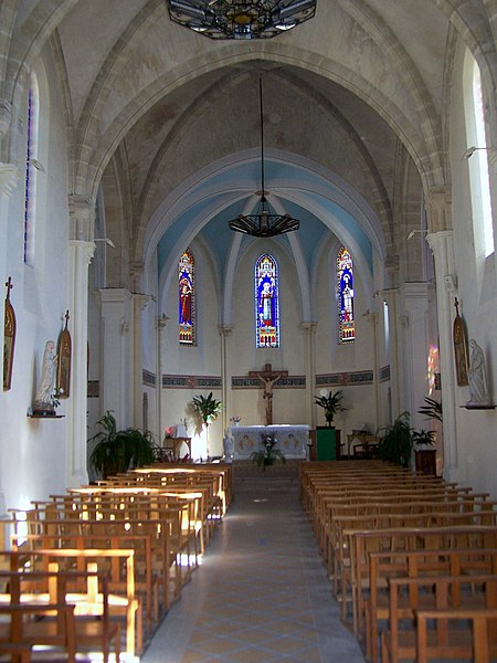 Nave of Saint Magne church of Saint-Magne (Gironde, France)