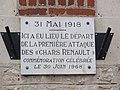 Saint-Pierre-Aigle (Aisne) plaque Chars Renault sur une maison.JPG