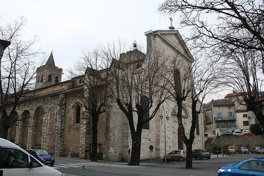 Saint-Pons-de-Thomières (Hérault)- cathédrale - mur méridional