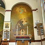 Saint Anthony Catholic Church (Temperance, MI) - interior, Saint Anthony mural.jpg