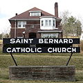 Saint Bernard Catholic Church (Corning, Ohio) - sign and rectory.jpg