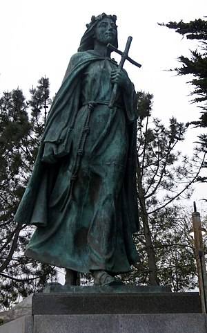 Saint Rosalia - A statue of Saint Rosalia in Monterey, California.