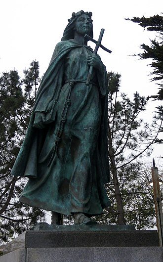 Saint Rosalia - A statue of Saint Rosalia in Monterey, California