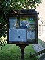 Saints Simon and Jude's Church notice board Quendon Essex England.jpg