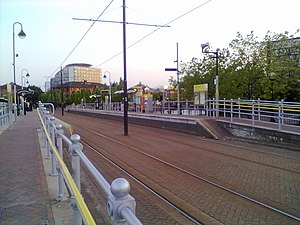 Salford Quays tram stop - Salford Quays stop