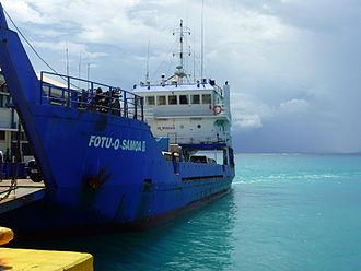 Transport in Samoa - Fotu o Samoa II passenger and cargo ferry operating between Upolu and Savai'i islands.