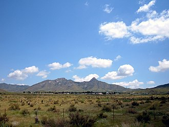San Augustin Mountains - Image: San Andres Mountains west Las Cruces