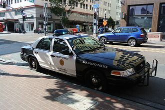 San Diego Police Department - San Diego Police car in the city center