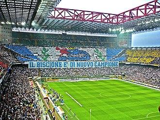 Curva - Inter Milan Fans in Curva Nord Milano
