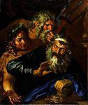Sandrart (attributed), Troppa (attr.) - Laomedon Refusing Payment to Poseidon and Apollo - 17th c.jpg