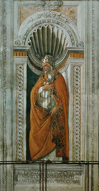 Pope Sixtus II - Image: Sandro Botticelli Sixte II