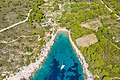 Sandy beach Porat on Bisevo island in Croatia (48608616651).jpg