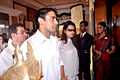 Sangram Singh, Payal Rohatgi at Rajesh Khanna's prayer meet 02.jpg