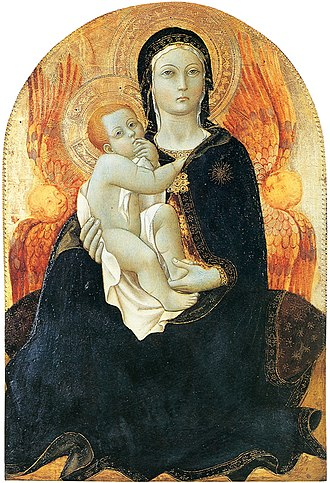 Madonna of humility - Image: Sano di Pietro Madonna of Humility