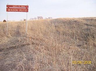Baldwin City, Kansas - Image: Santa Fe Wagon Ruts