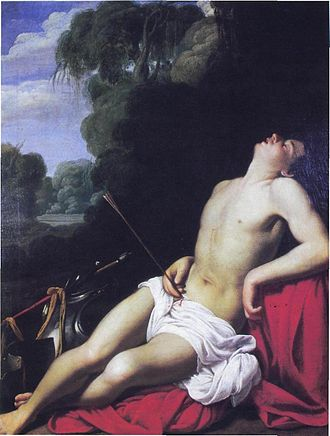 St. Sebastian has historically been depicted as both a religious icon and a figure of covert sexual fantasy SaraceniSebastian.jpg