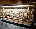 Sarcophagus with a depiction of Phaedra. Marble. From Thessalonica, Greece. Roman period, First half of the 2nd century CE. Museum of Archaeology, Istanbul, Turkey.jpg