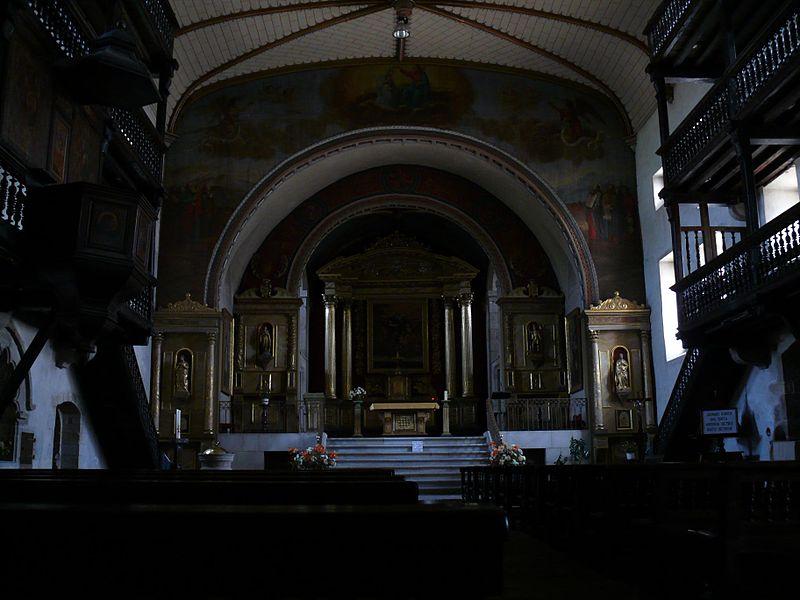 Saint-Martin's church of Sare (Pyrénées-Atlantiques, Aquitaine, France).