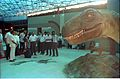 Saroj Ghose and other Dignitaries with Tyrannosaurus - Dinosaurs Alive Exhibition - Science City - Calcutta 1995-06-15 120.JPG