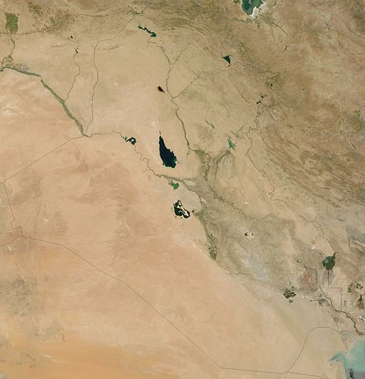 Satellite image of Iraq in August 2003