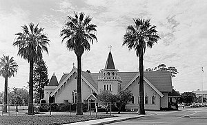 Sawtelle Veterans Home - Image: Sawtelle Veterans' Administration Center, Chapels, Wilshire & Sawtelle Boulevards, Los Angeles (Los Angeles County, California)
