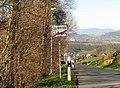 Schellenberg Liechtenstein Ortsende auf Nebenstrasse (Nord) Richtung Feldkirch (A).jpg