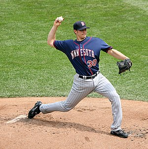 Scott Baker (right-handed pitcher) - Baker with the Minnesota Twins