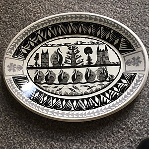 Scottie Wilson - Royal Worcester dinnerware by Scottie Wilson