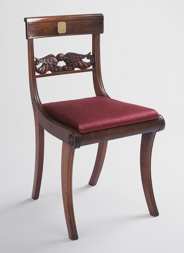 Rattan Klismos Lounge Chair