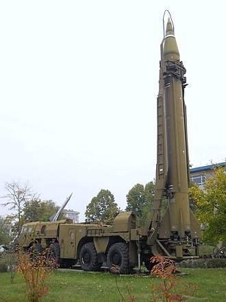 Scud - Scud missile on TEL vehicle, National Museum of Military History, Bulgaria