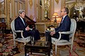 Secretary Kerry Sits With NBC News Anchor Holt Before Interview at U.S. Ambassador's Residence in Paris (23080440022).jpg