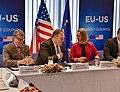 Secretary Pompeo Chats With Secretary Perry and E.U. Representative Mogherini (28498334597).jpg