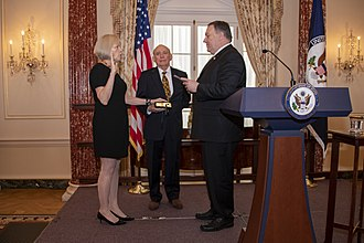 Carol Z. Perez - Secretary of State Mike Pompeo ceremonially swears Perez in as Director General of the Foreign Service and Director of Human Resources in 2019