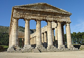Elymians - The Elymian temple at Segesta, Sicily.