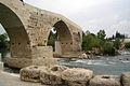 Seljuk (Eurymedon) Bridge near Aspendos Turkey, stones of old roman water pipe.JPG