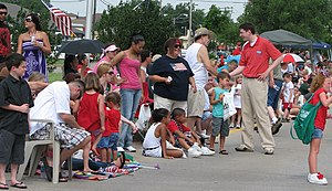 David Holt (politician) - Holt shaking hands at the Bethany, OK Independence Day Parade on July 4, 2011