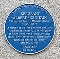Sergeant Albert Mountain VC blue plaque.jpg