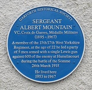 Albert Mountain Recipient of the Victoria Cross