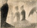 Seurat - Three Young Women, study for the painting Sunday Afternoon on the Island of La Grande Jatte, ca. 1884 - 1885.jpg