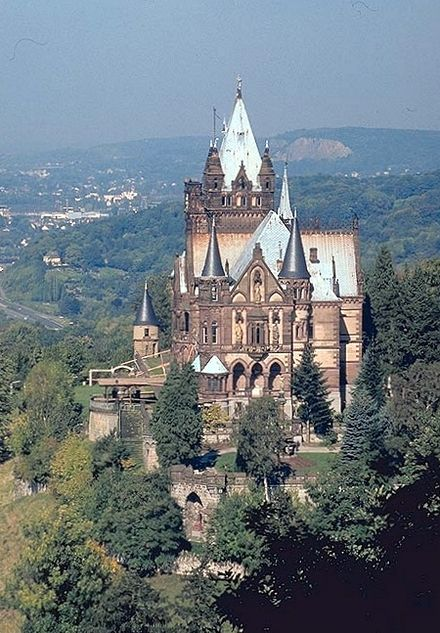 The castle Schloss Drachenburg is one of the landmarks of Seven Hills