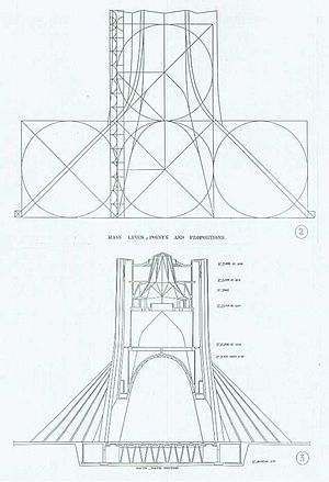 Azadi Tower - Plans of the Azadi Tower.