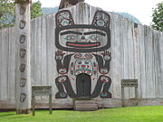 Chief Shakes Tribal House, a traditionally constructed Tlingit house in Wrangell, Alaska