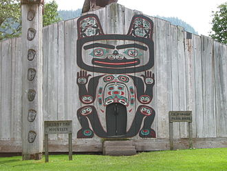Culture of the Tlingit - Chief Shakes Tribal House, a traditionally constructed Tlingit house in Wrangell, Alaska