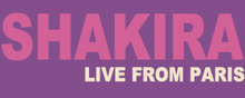 alt=Description de l'image Shakira live paris logo.png.