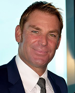 Shane Warne - Warne at the Melbourne launch of 2015 Cricket World Cup, February 2015