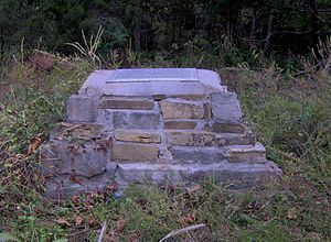 Big Ridge State Park - Sharp's Station monument at the end of the Sharp's Station Trail